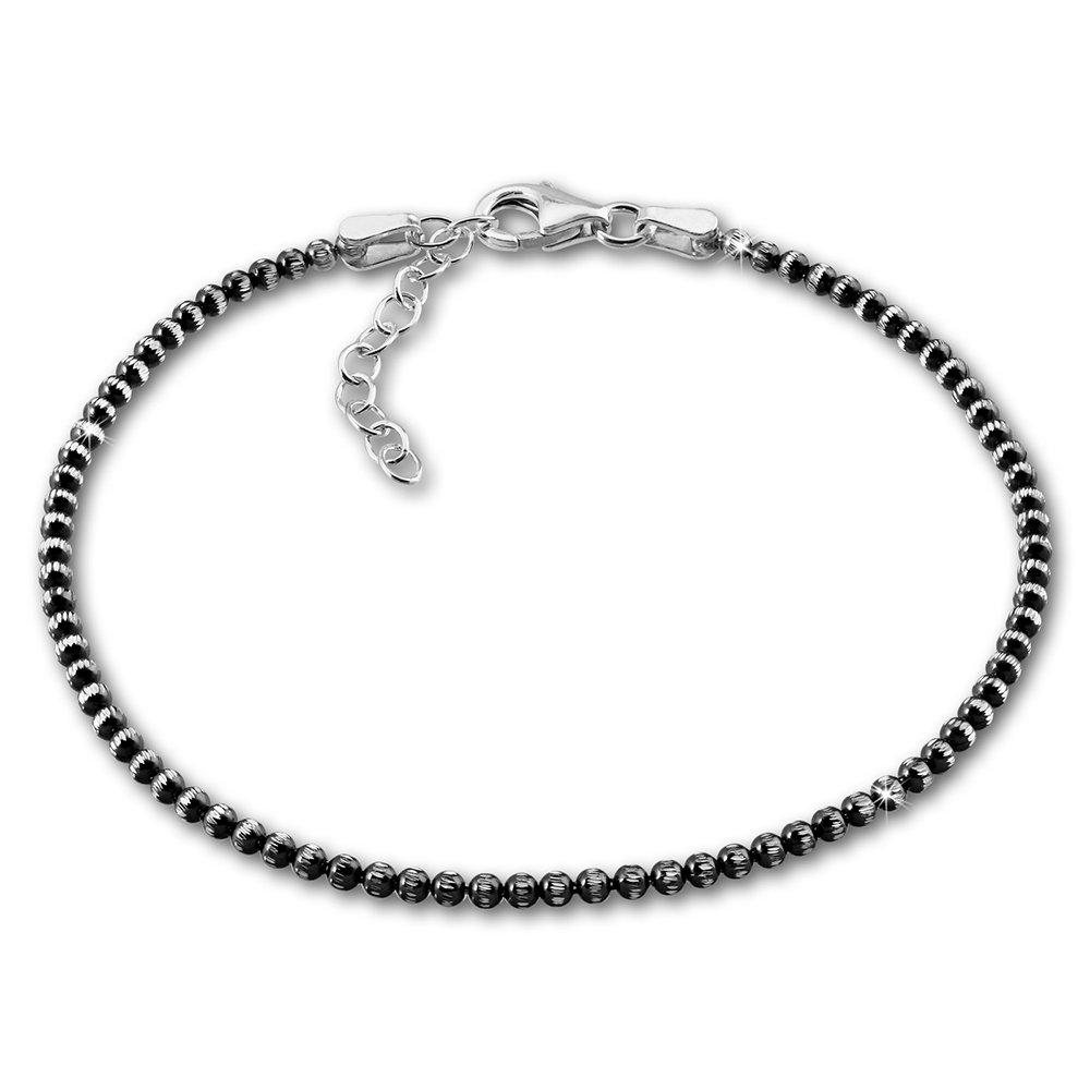 SilberDream Bracelet - noirci - Boules - Argent Sterling 925 - 18cm - 21cm - Femme - Bijoux Tendance SDA1108K