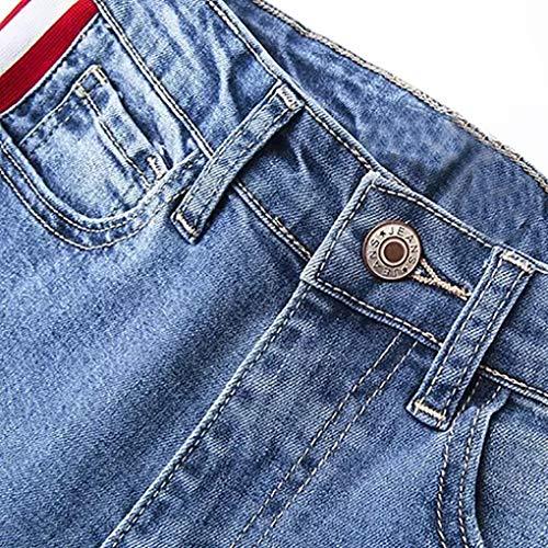 Femme Jeans Holywin Jean Bleu Uni qtx8Z