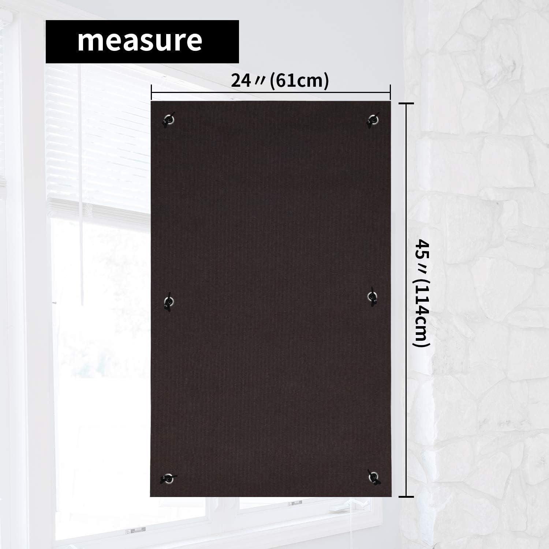 Greatime 100/% Blackout Rideaux aveugles avec Ventouse /à Isolation Thermique pour Sun Faisceau r/éflecteur fen/êtres de Toit velux Sucker 57x100 cm Chocolat