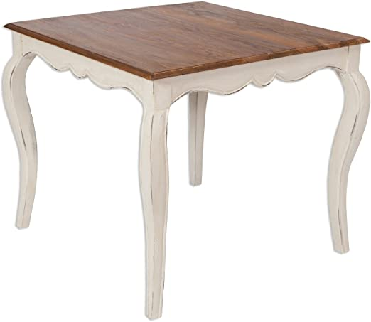 Lyon maciza, mesa de comedor maciza, vida/parte superior 90 x 90 ...