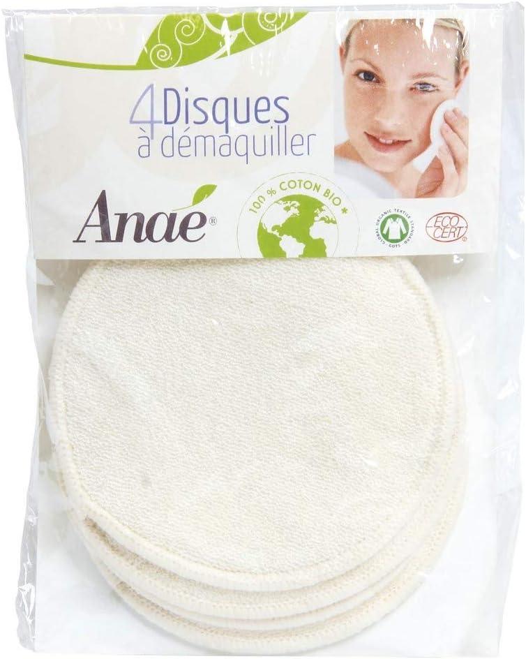 Discos desmaquillantes lavables algodón orgánico Anaé, 4ud: Amazon ...