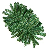 Factory Direct Craft Artificial Canadian Pine Swags for Indoor or Outdoor Decor - 2 Swags