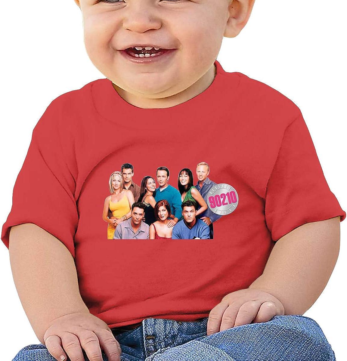 LIIREN Bever/_ly HIL/_ls 90210 Sign Tee Design Summer Tshirts for Baby Boy Black