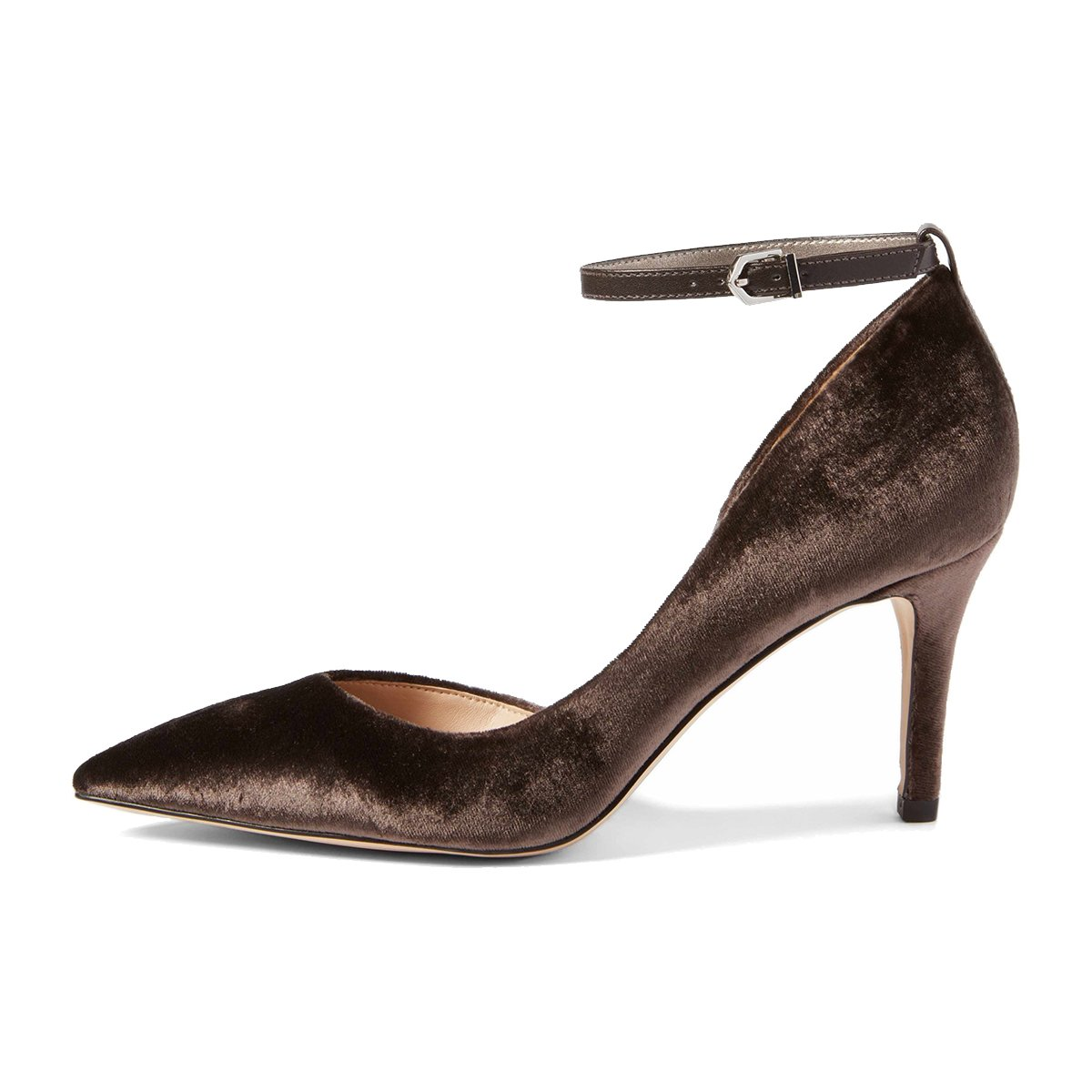 XYD Women Pointed Toe D'Orsay Mid Heel Pumps Party Ankle Strap Buckled Wedding Party Pumps Dress Shoes B078XQFGXW 12 B(M) US|Dark Goldenrod 66cb19