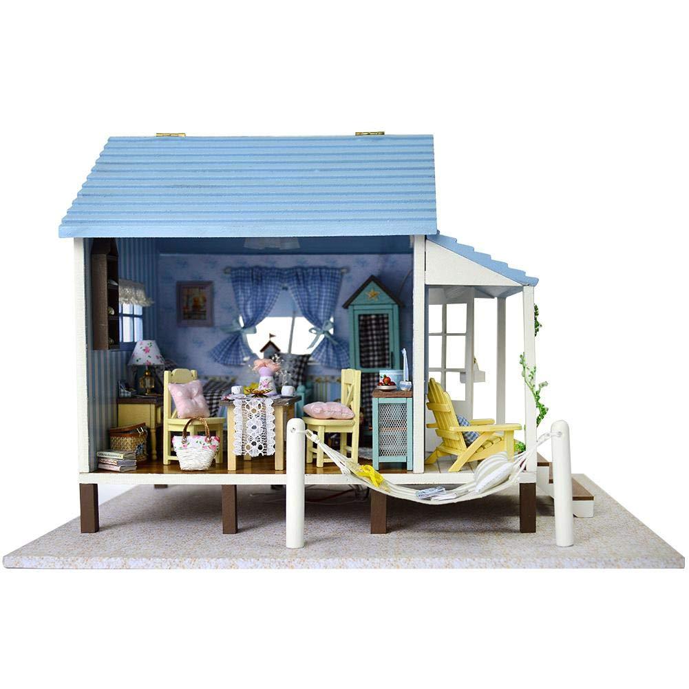 Happy Coast Handcraft House, DIY Handcraft Miniatura 3D Casa de ...