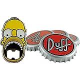 "Unitedlabels 0116565 Simpsons - Sottobicchiere con apribottiglie, 5 pezzi""Duff Beer"""