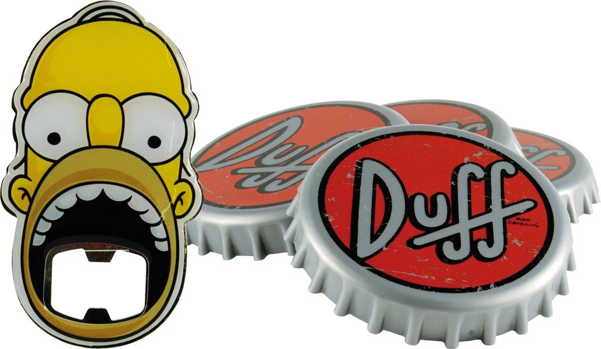 Unitedlabels 0116565 Simpsons - Sottobicchiere con apribottiglie, 5 pezzi'Duff Beer' 5 pezziDuff Beer United Labels AG