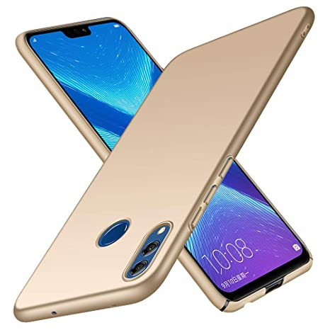 Funda Honor 8X TopACE Hard Cover Caso para Honor 8X (Oro)
