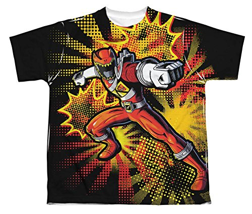 Youth: Power Rangers - Red Ranger Burst Kids T-Shirt Size YS ()