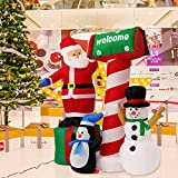 Kinbor 5.3' Santa Clause Snowman Inflatable Air Blown Indoor Outdoor Lawn Party