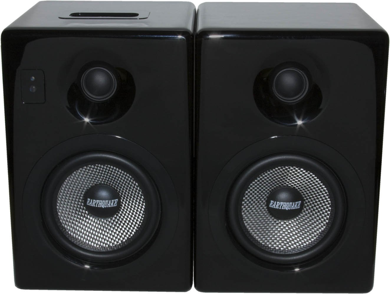 Earthquake Sound IQ52B iPod Docking Speaker System (Black Piano Gloss, Pair) by Earthquake Sound