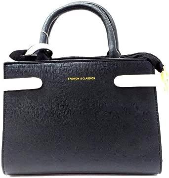 فاشن اند كلاسيكس حقيبة للنساء-اسود - حقائب بمقبض علوي