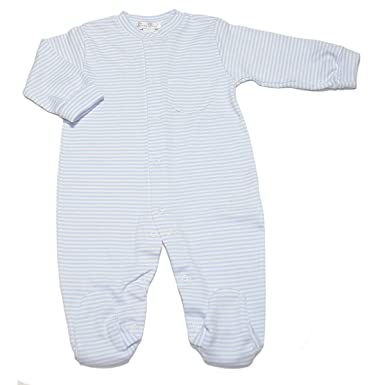 dce998820 Amazon.com  Kissy Kissy Baby Girls  Stripe L S Footie  Clothing