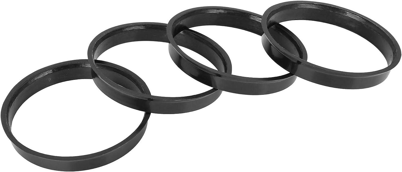X AUTOHAUX 4stk Kunststoff 67,1mm bis 65,1mm Auto Naben Zentrierringe Schwarz