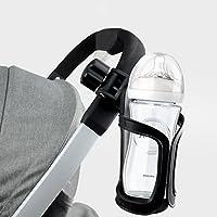 Hemore Flaschenhalter für Kinderwagen, Fahrrad, Becherhalter, 360 Grad drehbar, Anti-Rutsch-Getränkehalter für Baby-Kinderwagen, Fahrrad, Rollstuhl, Motorrad, Gesundheit und Babypflege
