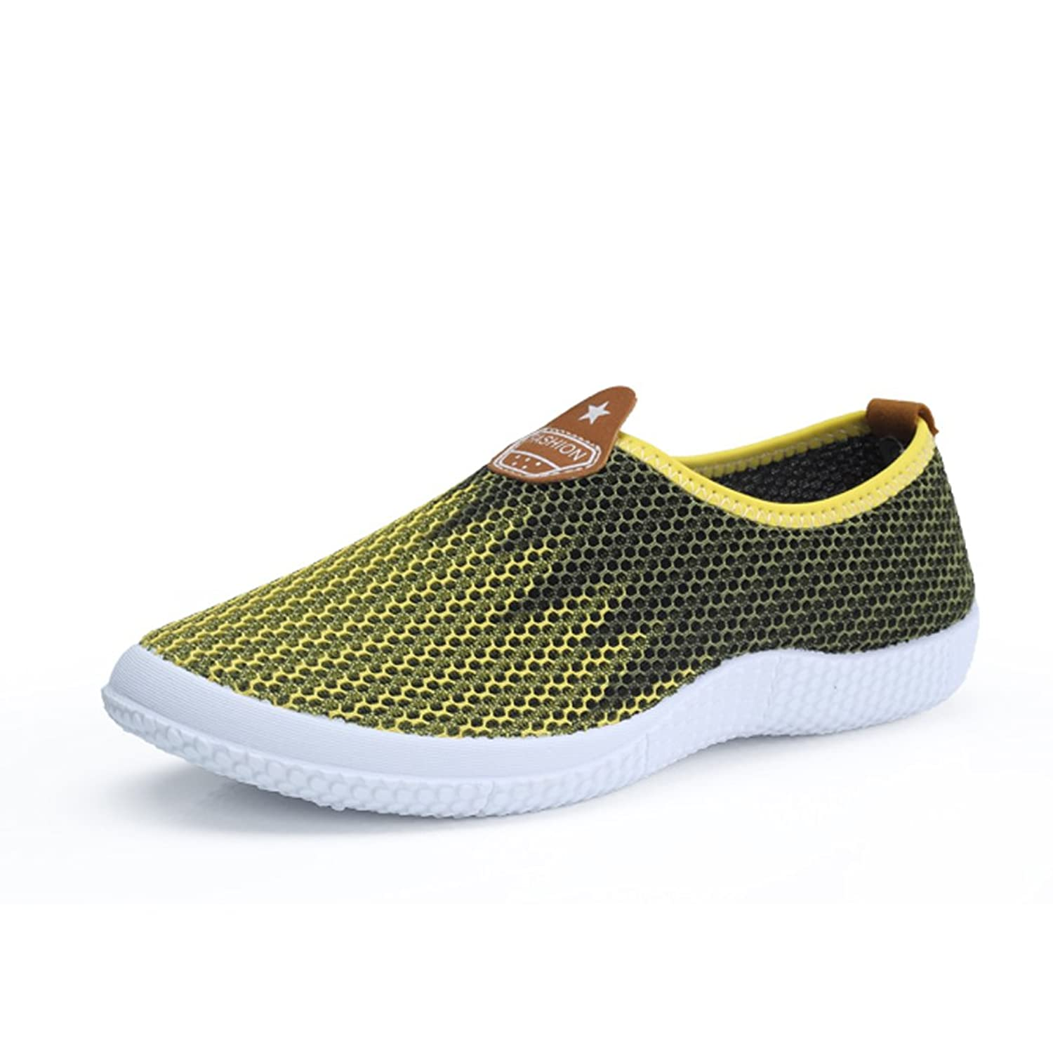 ASlibay Men's Breathable Mesh Slip-on Summer Loafers Fashion Color Matching Outdoor Sports Running Shoes
