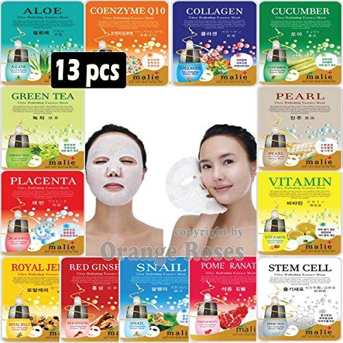 [OBS lab] 13 pcs Ultra Hydraiting Essence Mask ( 13 pcs Total ), Korean Facial Mask Sheet, Skincare Moisturizing