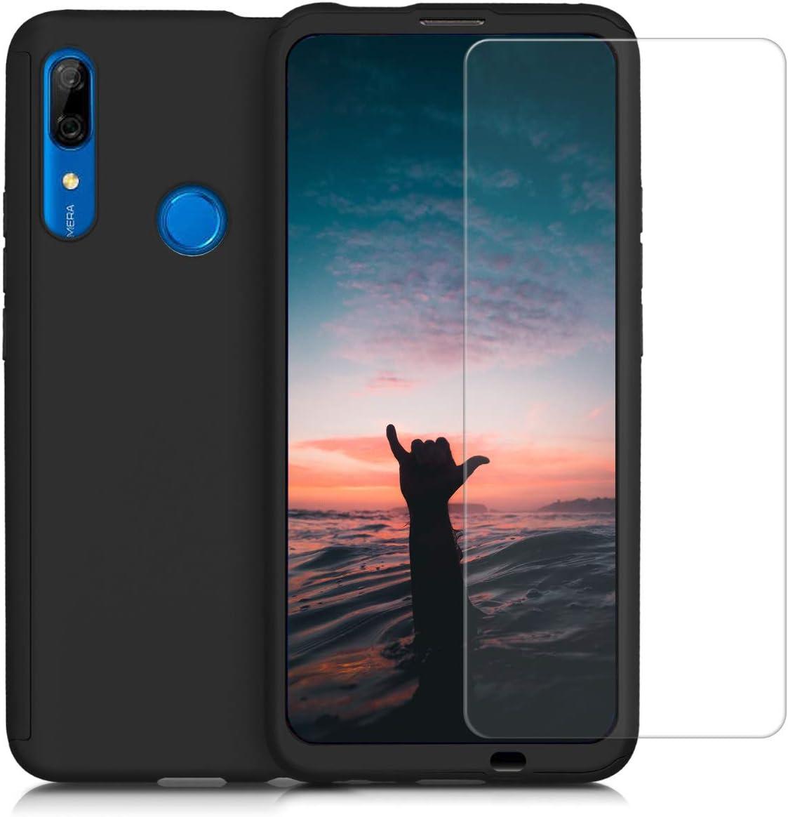 Carcasa Protectora con Cristal Templado kwmobile Funda Compatible con Huawei P Smart Z Cover con Protector Duro