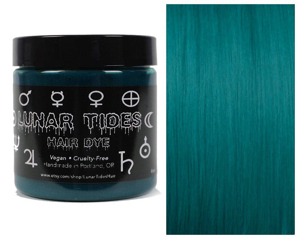 Lunar Tides Hair Dye - Cerulean Sea Dark Teal Semi-Permanent Vegan Hair Color (4 fl oz / 118 ml) by Lunar Tides