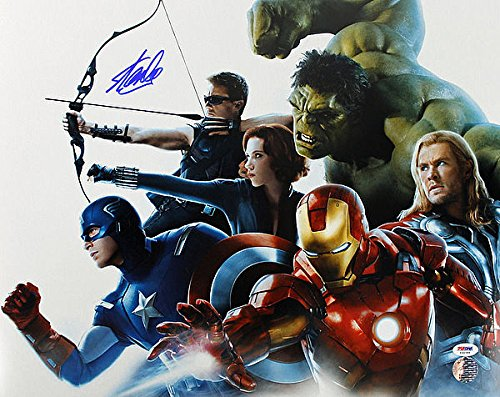 Stan Lee Autographed The Avengers 16x20 Photo Autograph - PSA/DNA Certified - Celebrity Signed Pictures