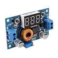 Cewaal DC-DC Adjustable Buck Step-Down Converter Power Supply Module 40V 5A 75W Voltmeter Display