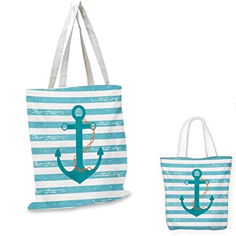 6d8b996402287d Teal canvas messenger bag Ship Anchor Chain Marine Life Inspired with Lines  Background Ocean Sailing canvas