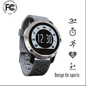 Montre de Sport Smartwatch,IP68 Étanche De Natation Montre Smart Watch Message Dappel