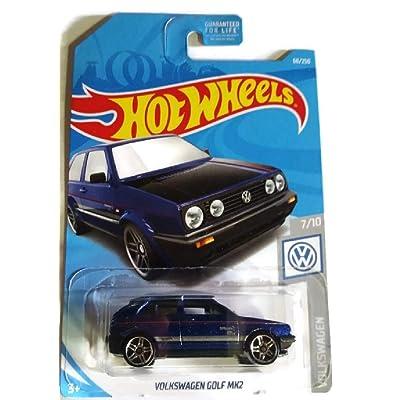 Hot Wheels 2020 Volkswagen Series 7/10 - Dark Blue Volkswagen Golf MK2 #68/250: Toys & Games