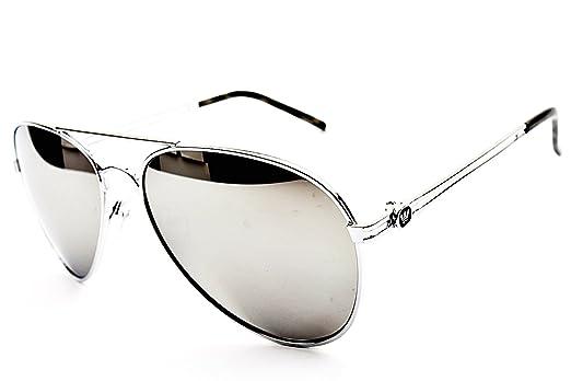 55a5a4e2c Amazon.com: Triple Crown Aviator Sunglasses Silver Mirror Lens Black  (Black): Clothing