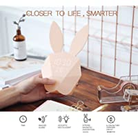 Mimi lapin musique creative réveil électronique/veilleuse / chambre d'enfant/cadeau d'anniversaire pour enfants/USBCharge