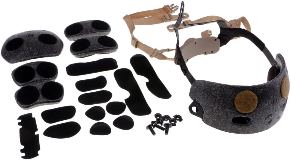 MagiDeal syst/ème de Suspension r/églable Airsoft Protection Kit pour Casque Fast FMA