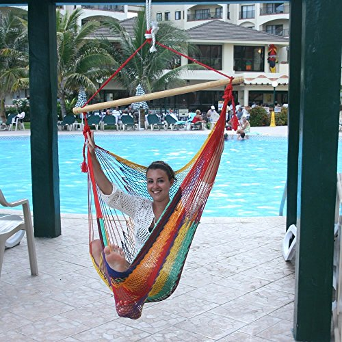 Hammocks Rada- Handmade Yucatan Hammock Chair – Multicolor – True Comfort, True Quality, World's Best Handmade Hammock Chair- 100% No-Hassle Satisfact…
