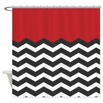 Amazon.com: CafePress - Red Black And White Chevron - Decorative ...