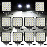 VINGO® 10X48W Phare de Travail Phare des Travaux Légers Feux Antibrouillard Offroad lampes supplémentaires Phare lumière brillante lumière brillante Camion Tout-terrain Jeep SUV ATV