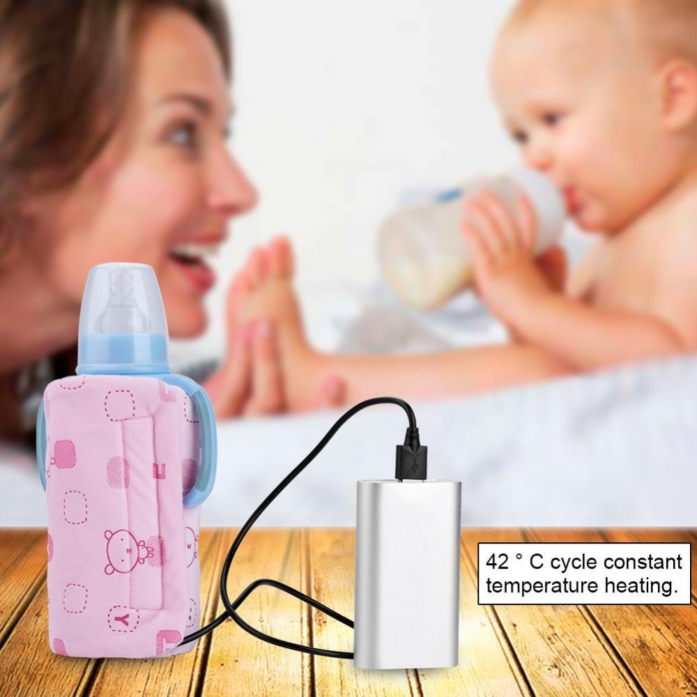 USB Babyflaschenw/ärmer Tasche Baby Warmhaltetaschen Milch Wasser Kaffee Tee Heizung W/ärmer Blau