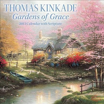thomas kinkade gardens of grace with scripture 2012 wall calendar