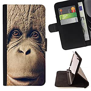 /Skull Market/ - CHIMP CHIMPANZEE MONKEY For Samsung Galaxy S6 EDGE - Caja de la carpeta del tir???¡¯???€????€?????????&Ati