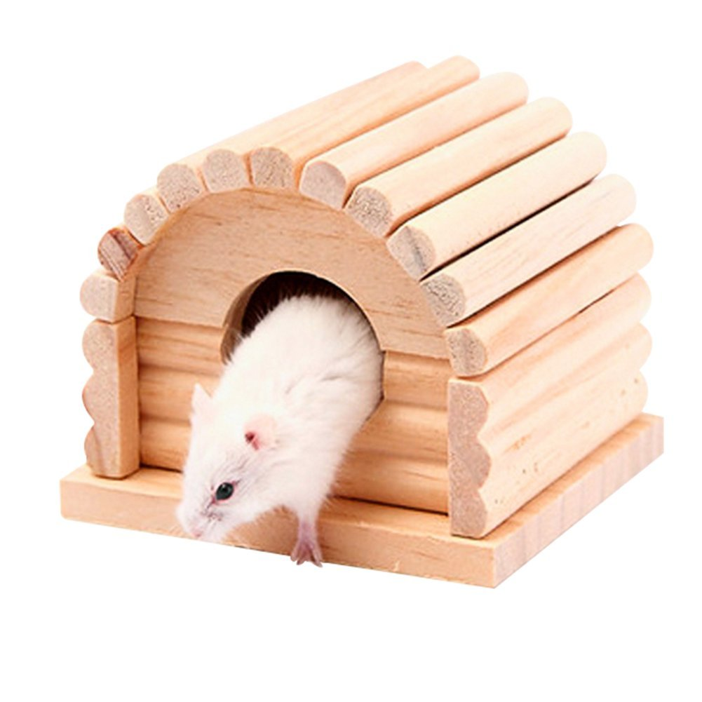 Da.Wa Wooden Small Animal Nest Pet House Nest for Rat Hamster Parrot Squirrel Hamster Supplies