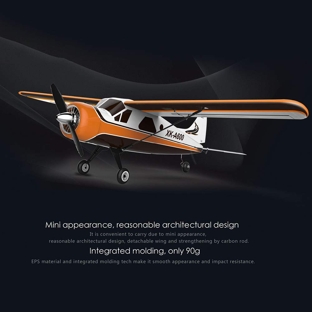 ♞Deadness XK DHC-2 A600 4CH 2.4G Brushless Motor 3D6G RC Airplane 6 Axis Glider (Yellow) by ♞Deadness (Image #7)