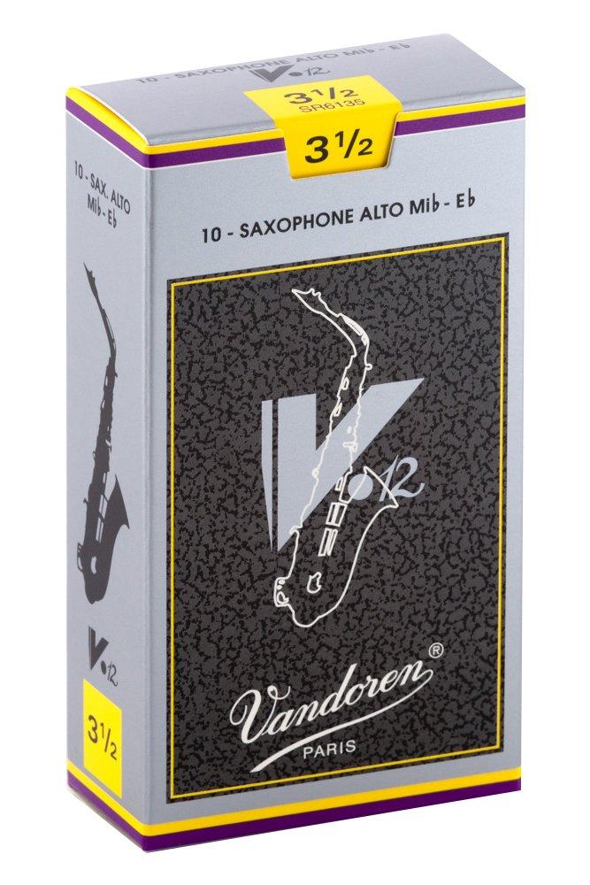Vandoren SR6125 Reed V12, Alto Saxophone, 2.5-Pack of 10