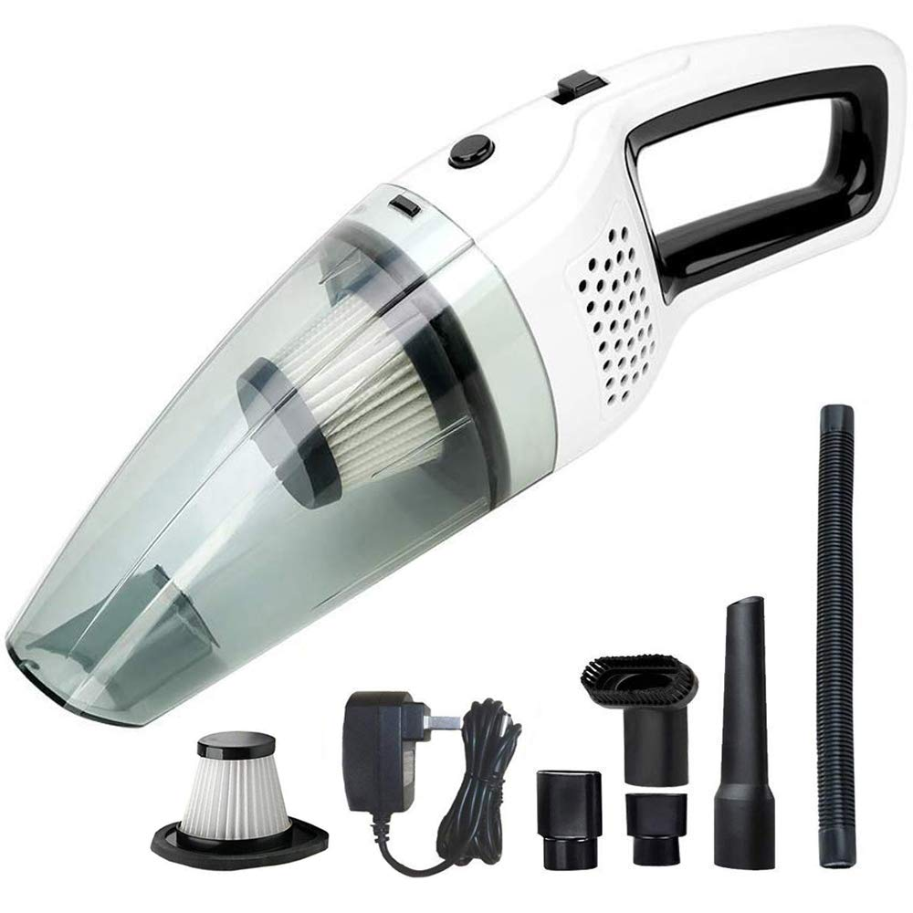 BOLWEO Handheld Cordless Vacuum Cleaner, DC 12V Portable Car Vacuum Cleaner for Car and Home with Strong Suction High Power, Small Dust Buster for Wet&Dry Use
