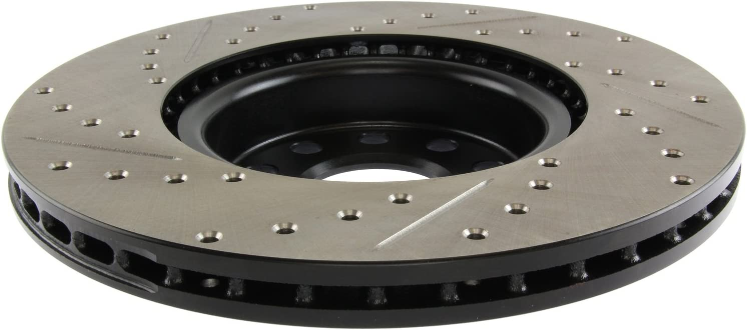1 Pack Front Left StopTech 127.33098L Sport Drilled//Slotted Brake Rotor