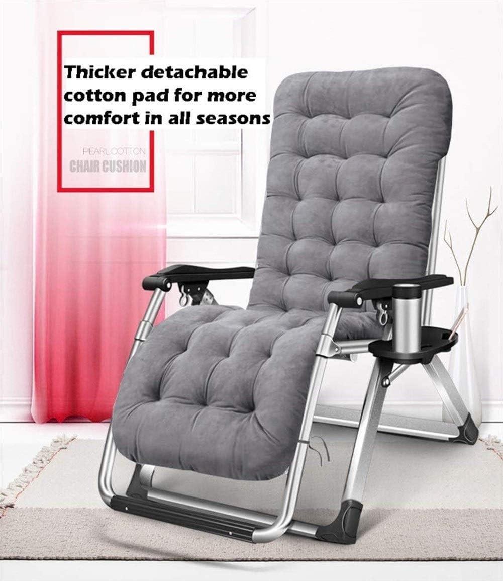 YQ WHJB Oversized nul zwaartekracht chaise longue Garden deck stoelen Vouwstoel Outdoor ligstoel Draagbare stoel voor zware mensen, Ondersteuning 199,6 kg (Kleur: blauw) 2