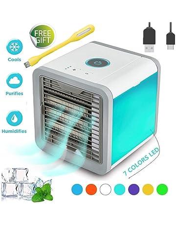 Nifogo Air Portatil Cooler, Climatizador Evaporativo, Aire Acondicionado, 3-en-1