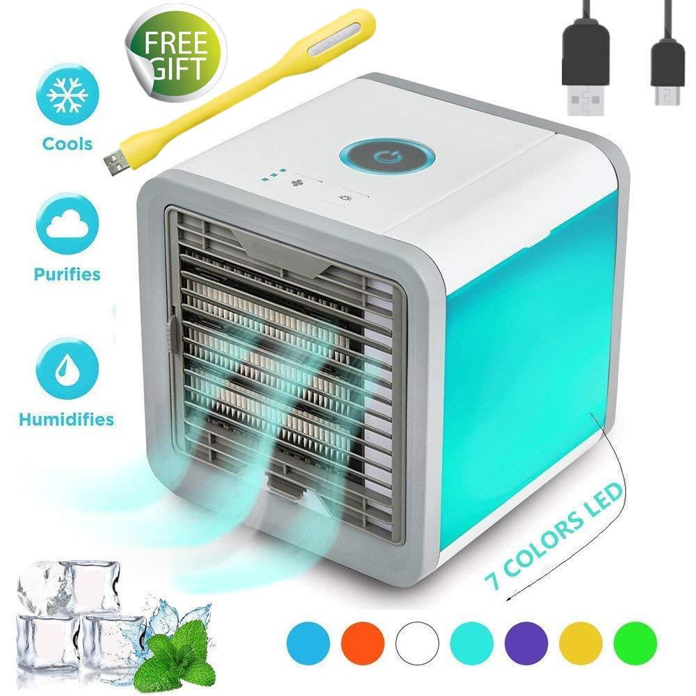 climatizador portatil con luz