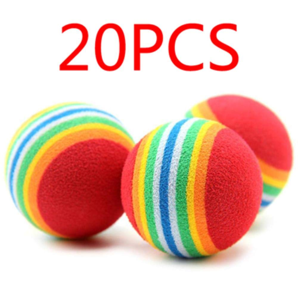 20pcs random color LIKEZZ Cute Mini Small Dog Toys For Pets Dogs Chew Ball Puppy Dog Ball For Pet Toy Puppies Tennis Ball Dog Toy Ball Pet Products,20pcs random color,Mini