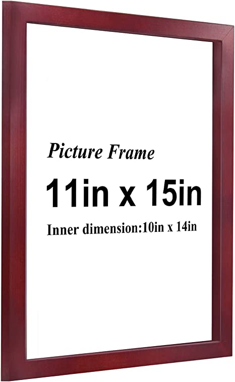 Green Wood Frame with Notch for Photos Posters-Thick Front cm 2 Prints