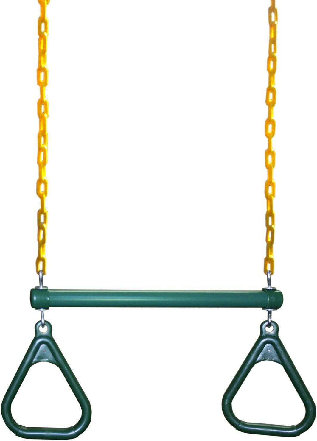 """Eastern Jungle Gym Heavy-Duty Ring Trapeze Bar Combo Swing ,Large 20"""" Trapeze Bar with Coated Swing Chains 43"""" Long"""