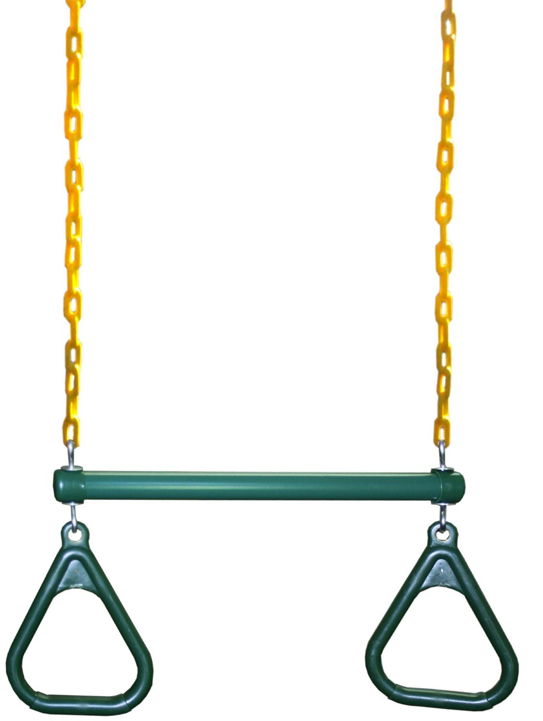 Eastern Jungle Gym Heavy-Duty Ring Trapeze Bar Combo Swing ,Large 20'' Trapeze Bar with Coated Swing Chains 43'' Long by Eastern Jungle Gym (Image #1)