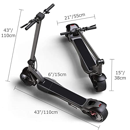 Amazon.com: WiLEES Patinete eléctrico plegable 15 mph 30 ...